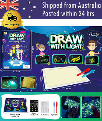 AU10.95 • Buy PVC Tablet Draw With Light Funny Toy Children Educational Developing Whiteboard