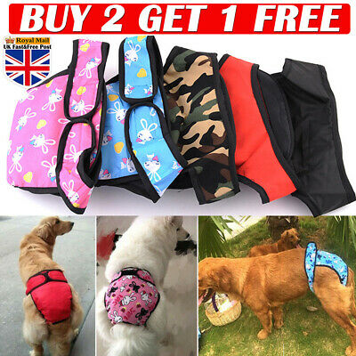 Dog Sanitary Pet Physiological Pants Shorts Underwear Nappy Diaper For Dogs S-XL • 3.47£