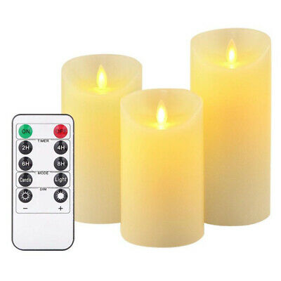 6Pcs Remote Control Flickering Flameless LED Candle Battery Wax Tea Lights Lamp • 10.59£