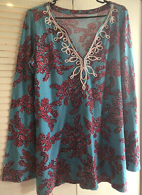 $6 • Buy Lilly Pulitzer Blue Blouse Size Large