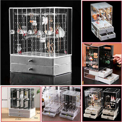 AU22.99 • Buy 3/4 Trays+Drawer Acrylic Earring Display Rack Stand Organizer Holder Storage Box