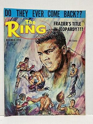 $7.50 • Buy THE RING Boxing Lot Of 13 From 1960's 1970's Vintage Magazines Frazier Clay Ali
