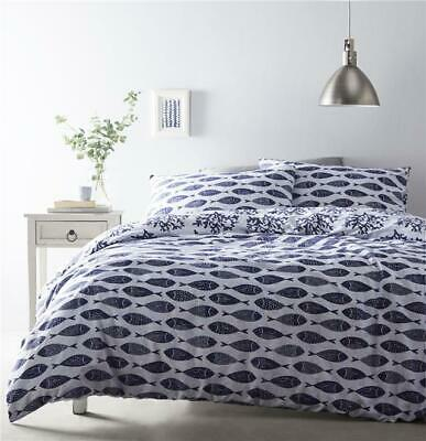 Duvet Sets Geometric Fish Blue Sea Marine Ocean Bedding Quilt Cover Pillow Cases • 12.34£