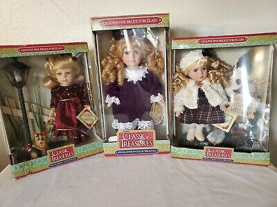 $ CDN52.86 • Buy (Lot Of 3) Classic Treasures Special Edition Collectible Doll Bisque Porcelain