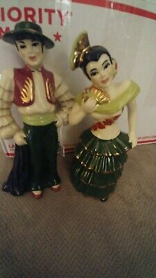 $3.55 • Buy Great Nice  Vtg Ceramic Arts  Studio Pair Man Woman Flamingo Rhumba Dancers