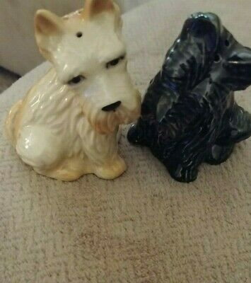 $7.99 • Buy Adorable Vintage  Ceramic Arts  Studio Pair Scotties Dogs Salt Pepper Shakers
