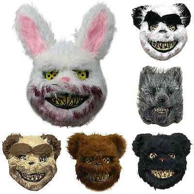 Halloween Scary Bloody Deep Death Evil Animal Mask Masquerade Cosplay Party Prop • 8.99£