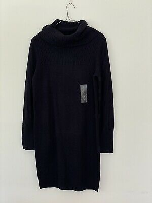 AU19 • Buy New Uniqlo 100% Lambswool Dress Navy Size S