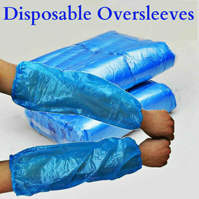 1000 BLUE Disposable Plastic Arm Sleeves Covers Oversleeves Cleaning Protective • 9.99£