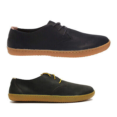 Vivobarefoot Ra II Leather Casual Flat Walking Lace-Up Mens Trainers • 109.64£