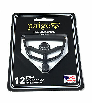 $ CDN32.62 • Buy Paige Capo  12 String  Black  P6E  For 12 String Guitars