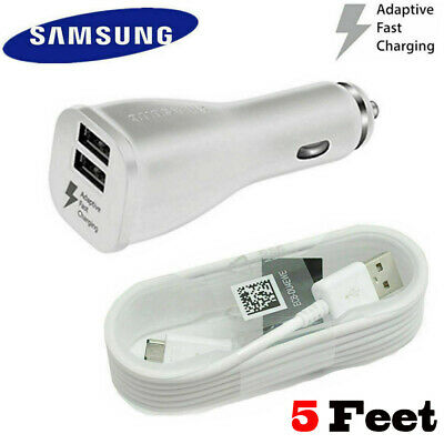 $ CDN10.09 • Buy Original Samsung Galaxy S7 S6 J7 Edge + Note 4 5 OEM Adaptive Fast Car Charger