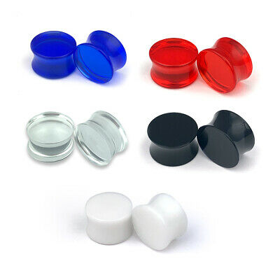 $5.99 • Buy Pair Of Acrylic Double Flare Plugs Set Plugs Gauges Choose Color/Size