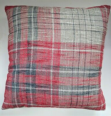 CLEARANCE Cushion Cover In Next Red Astley Check 16  Matches Curtains • 9.95£