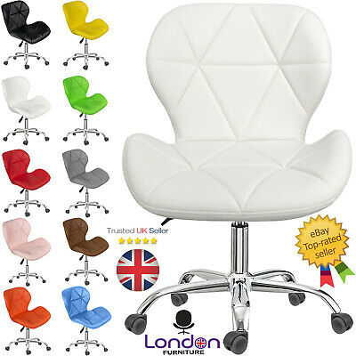 £36.98 • Buy Cushioned Computer Desk Office Chair Chrome Legs Lift Swivel Small Adjustable UK