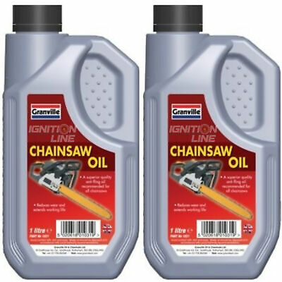 £13.99 • Buy 2 X Granville Quality Chainsaw Oil Lubricant Fluid Anti Fling SAE 30 1L