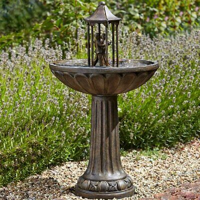 Dancing Couple Solar Powered Fountain Water Feature Ideal Garden & Patio Gift • 129£