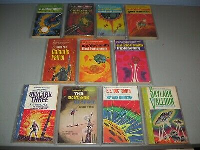 $49.99 • Buy E.E. Doc  Smith The Lensmen,Skylark Complete Sets11 VTG  Pyramid Books