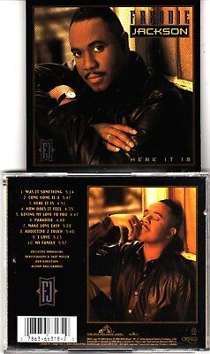 $ CDN18.99 • Buy Lot Of 2 CDs Of Freddie Jackson Here It Is & Time For Love  Rarely Played Read