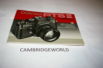 $ CDN36.29 • Buy Contax Rts Ii Quartz Camera Instruction Manual Guide Book Original Genuine