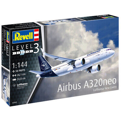 Revell Airbus A320neo Lufthansa  New Livery  Aircraft Model Kit - Scale 1:144 • 18.99£