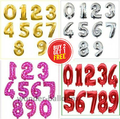 16  Inch Letter Number Foil Balloons Air Baloons Wedding Birthday Party Ballons • 1.49£