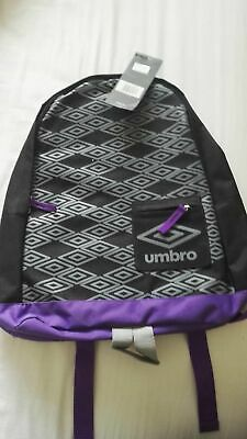 Umbro Titus Backpack/rucksack/school Bag PURPLE  AND BLACK New With Tags • 5£