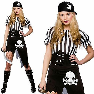Pirate Costume Ladies Adults Caribbean Wench Fancy Dress Accessory Womens Outfit • 11.99£