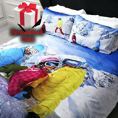Personalized Duvet Cover Bed Set All Sizes Printed Photo Ideal Christmas Gift • 64.99£
