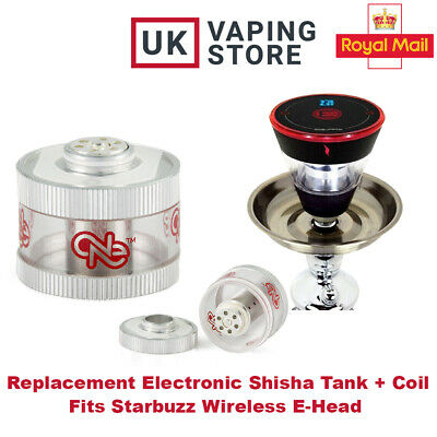 £19.99 • Buy Electronic Shisha E-Head Square Replacement Tank Coil Head Spares StarBuzz Head