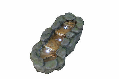 Small Slate River Falls  Garden Water Feature With LED Lights • 159£