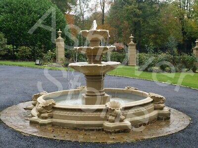 £1890 • Buy Water Feature Large Stone Garden Fountain From Ashover Stone