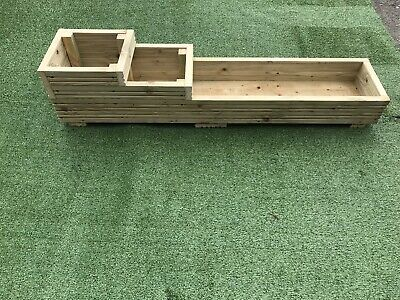 Wooden Garden Planter, Vegetables, Seeds, Bedding, Herbs • 32£