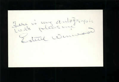 $ CDN131.24 • Buy Estelle Winwood D.1984 Actress Murder By Death Signed 3  X 5  Index Card