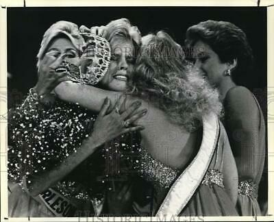 $16.88 • Buy 1983 Press Photo Winner Loses Crown Amid Congratulations, Miss Texas USA Pageant