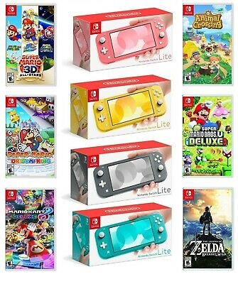 $287.05 • Buy Nintendo Switch Lite Handheld Game Console Bundle With Choice Of Game Brand New