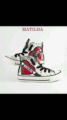 Converse All Star Black With Heart With Writing Matilda The Nome We Can Cambiar • 131.28£
