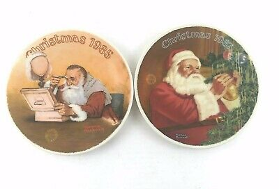 $ CDN40.34 • Buy Norman Rockwell Plates Santa Christmas Collectible 1985 &1987 Decorative Plate