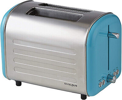 AU35.99 • Buy Retro Toaster Kitchen Countertop Appliance Stainless Steel Extra Wide Slot Blue