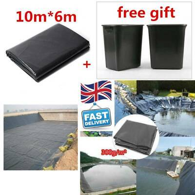 HDPE Fish Pool Pond Liner Membrane Reinforced Gardens Pools Landscaping 10m*6m • 76.07£