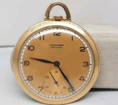 Vintage Longines 18k Gold Manual Winding Pocket Watch, Circa 1920s • 995£