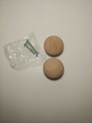 $7.50 • Buy Wooden Knobs Cabinets Dressers Doors SET OF 16  NWT  Knobs And Screws