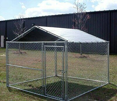 $94.99 • Buy Dog Kennel Roof Kit Cover 10x10 Outdoor For Cage Crate Sun Shelter Shade X Large