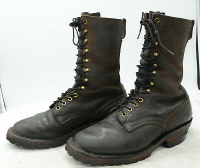 $249.99 • Buy Drew's Boots USA Lineman Work Leather Wildland Firefighter Boots Mens Sz 9.5 D