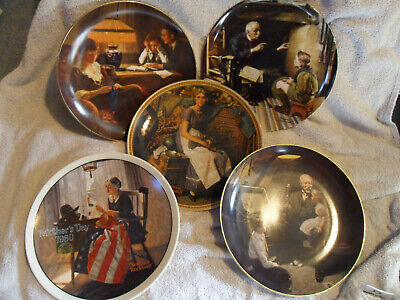 $ CDN5.04 • Buy Lot Of Five Norman Rockwell Knowles Collector Plates