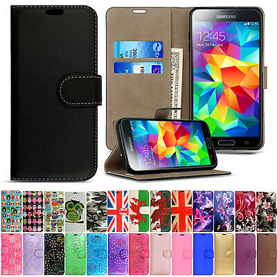 Case For Samsung Galaxy S2 S3 S4 S5 Magnetic Flip Leather Wallet Phone Cover • 2.90£