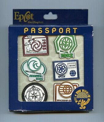 Disney Epcot Passport Collection Figment Spaceship Earth The Land LE 500 Pin Set • 90.44£