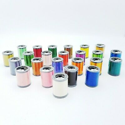 $69.95 • Buy Brother Machine Embroidery Thread 300m Polyester 135 Dtex Lot 24 Various Colors