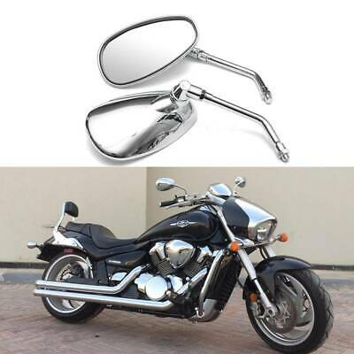 $25.99 • Buy Chrome Motorcycle Rear View Side Mirrors For Suzuki Boulevard M109R M50 C50T S40