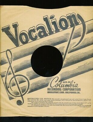 $10 • Buy 78 RPM Company Logo Sleeves-PRE-WAR-VOCALION (Columbia)